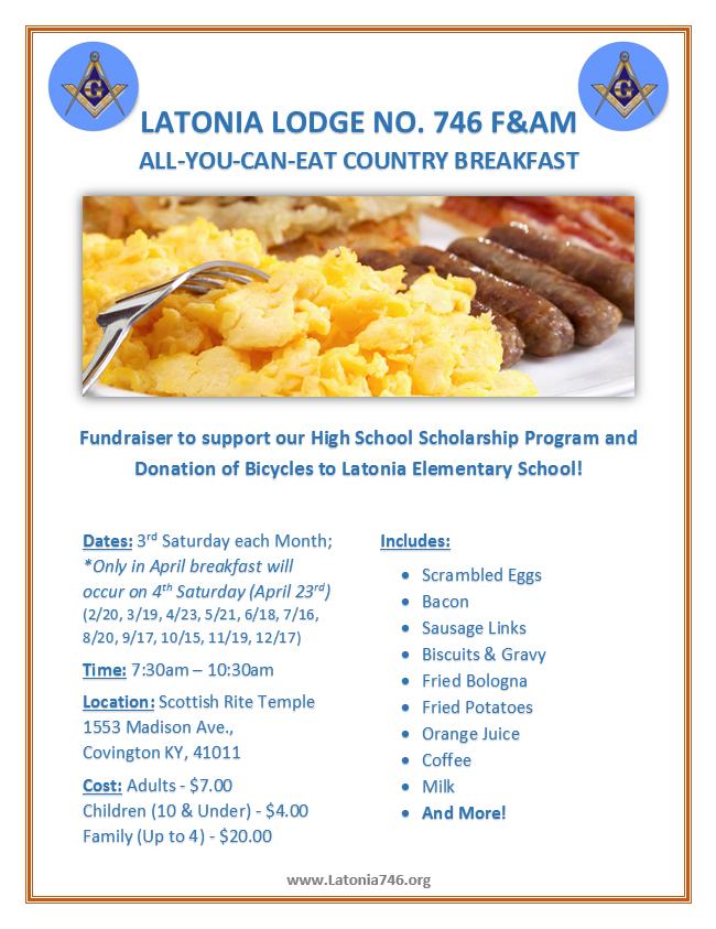 Latonia Breakfast Flyer